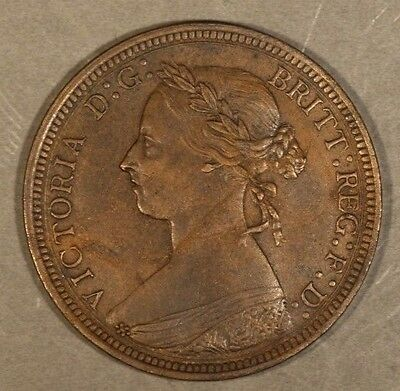 1891 Great Britain 1/2 Penny Brown Higher Grade     ** Free U.S. Shipping **