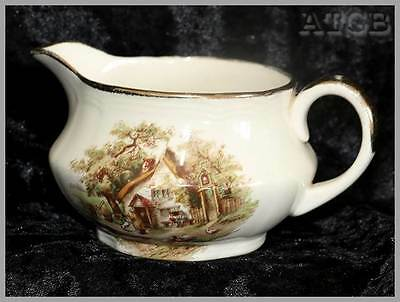 Vintage Alfred Meakin country farm scene small cream jug. In great condition