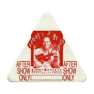 Jimmy Buffett authentic Aftershow 1990 tour Backstage Pass