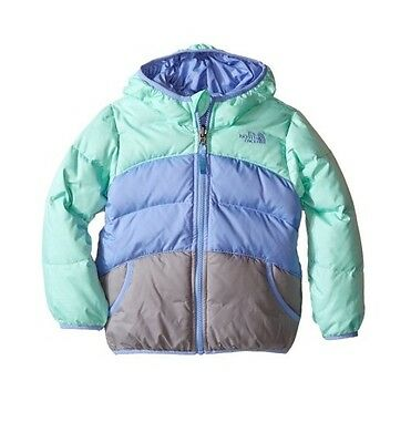 North Face Toddler Ice Green Heather Moondoggy Reversible Jacket (4T) NWT