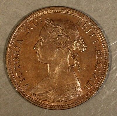 1890 Great Britain 1/2 Penny Red Brown High Details    ** Free U.S. Shipping **