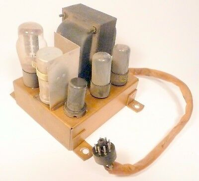vintage * ZENITH 12H091 /  chassis 11C21 -  Untested POWER SUPPLY w/ all 4 tubes
