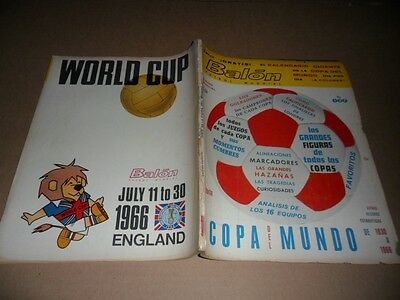 1966 England World Cup : Mexican Original Rare Program VIII Championship World