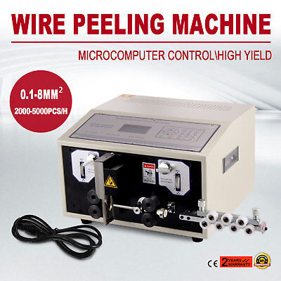 Computer Wire Peeling Stripping Cutting Machine Large Wires 0.1-8mm² 300W