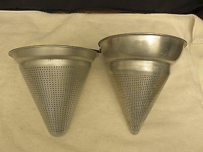 Wear-Ever Aluminum Strainer Sifter Colander Model No. 8 & 3341 1/2 Vintage USA