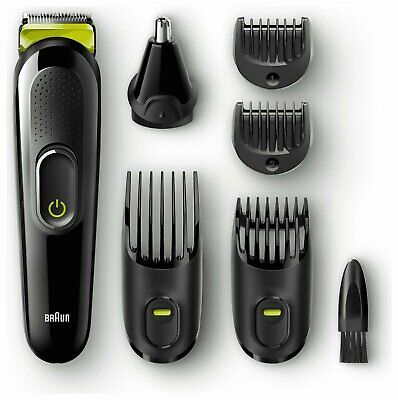 Braun MGK3020 6-in-1 Cordless Beard Trimmer and Hair Clipper with 5 Attachments
