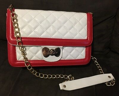 Hello Kitty Bag White Red And Gold Shoulder Bag