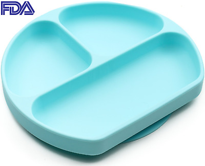 Silicone Grip Dish, Suction Plate For Toddlers, Divided Baby Feeding Bowl