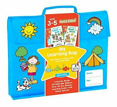 Gold Stars My Learning Bag Ages 3-5: Learn How to Read, Write, Add & Subtract