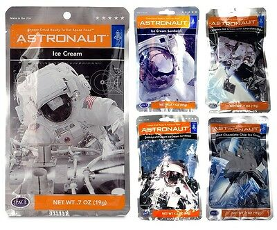 Set Of 5 All Ice Cream Flavours NASA Astronaut Space Food Pack Xmas Gift