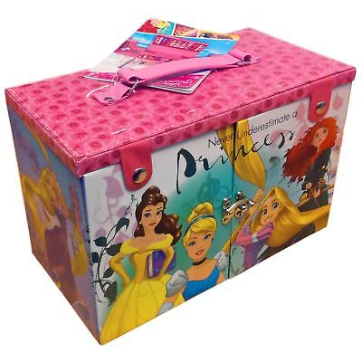 Disney Princess Beauty Case Girls Kids Make Up Storage Accessory Lipstick Set