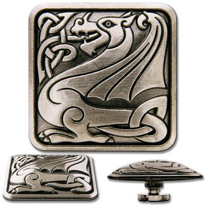 Celtic Dragon No. 2 Screwback Concho, Decorative Screw Back Rivet
