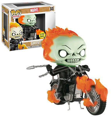 Funko POP! Rides Marvel #33 Ghost Rider (Glow) - New, Mint Condition