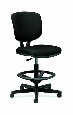 HON Volt Task Stool - Upholstered Office Stool, Black (H5705)