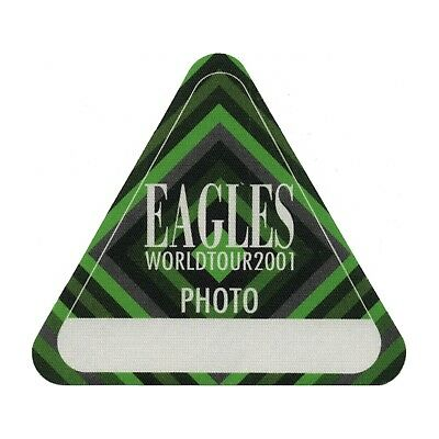 The Eagles authentic Photo 2001 tour Backstage Pass