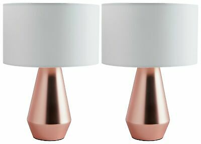 Habitat Pair of Maya Table Touch Lamps - Copper & Cream. From Argos on ebay