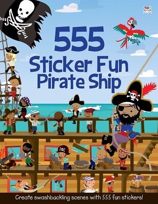 555 Sticker Fun Pirate Ship,awesome pirate activity book, Ages 5+, New