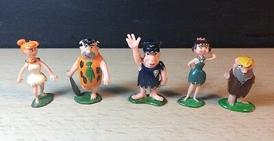 THE FLINSTONES TINYKINS FIGURINES - VINTAGE 1960's by MARX 5 Fred Barney Wilma