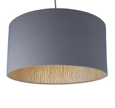 Modern grey zebra print 40cm drum easy fit ceiling light shade modern grey zebra print 40cm drum easy fit ceiling light shade bedroom new aloadofball Image collections