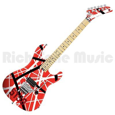 EVH Striped Series 5150 - Red, Black and White Stripes