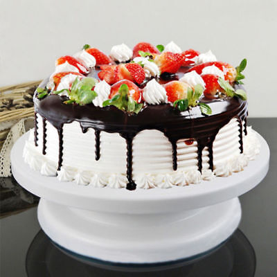 Cake Decorating Turntable Lazy Susan Rotating Icing Kitchen Display Stand 28 cm