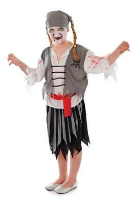*CLEARANCE*CHILD HALLOWEEN FANCY DRESS ZOMBIE PIRATE COSTUME 122-134cms *£4*