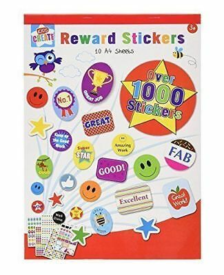 Over 1000 Stickers Kids Mega Sticker Book Creative Fun Activity Craft Art Sheets