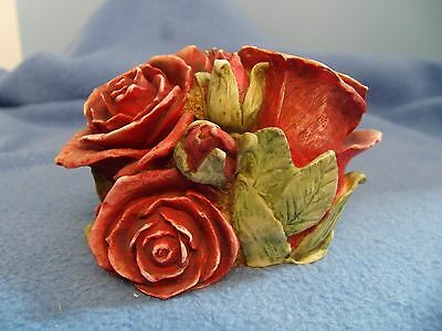 Double Red Rose   Harmony   Gardens     New In Box