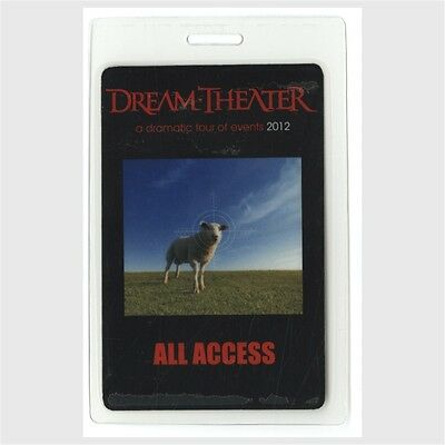 Dream Theater authentic 2012 concert Laminated Backstage Pass Dramatic Tour