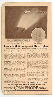 Vintage, Original, 1918 - Conaphore Headlight Advertisement