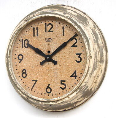 ENGLISH SMITHS 1950s Office Midcentury Vintage Retro Industrial Factory Clock