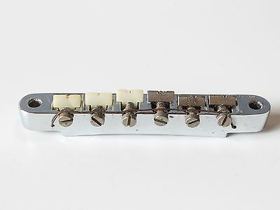 Gibson Vintage 1960's ABR-1 Guitar Bridge Chrome Patent Number Worldwide Ship
