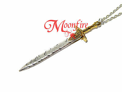 Percy Jackson And The Olympians Riptide Sword Trident Pendant Necklace Demigod