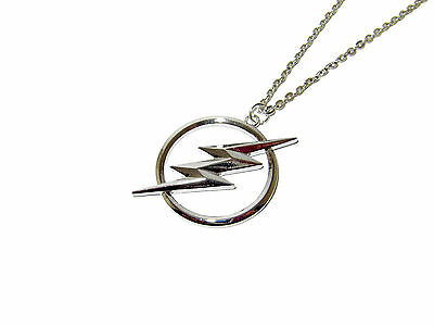 The Flash Superhero Logo Lightning Bolt Silver Plated Pendant Necklace Dc Comics
