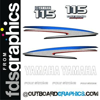 Yamaha 115hp four stroke outboard engine decals/sticker kit