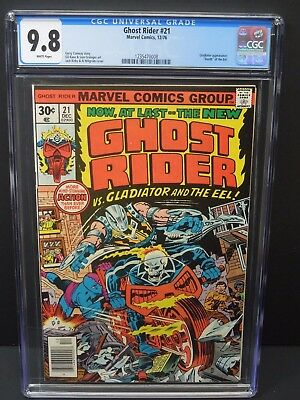 Marvel Comics Ghost Rider #21 1976 Cgc 9.8 White Pages Gladiator Appearance