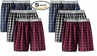 Fruit of the Loom 5Pack Boys Exposed-Waistband Boxers Boxer Shorts Underwear