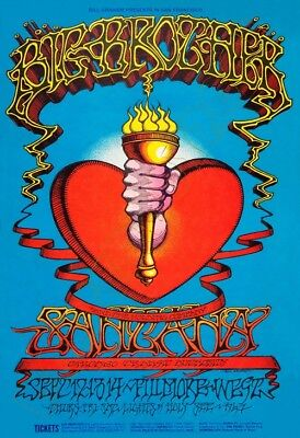 SANTANA -BIG Brother- Chicago Transit Authority -Fillmore W. 09/68 - Poster13x19