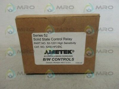 Ametek 52-1201 Solid State Control Relay *new In Box*