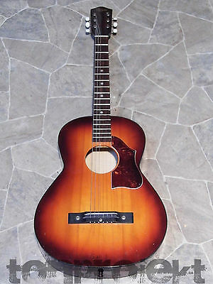 piccolo vintage HOYER parlor Blues Acustica Chitarra Germania 1960`