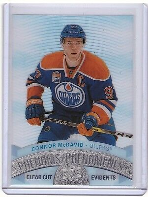 Connor McDavid 2017-18 Upper Deck Tim Hortons Clear Cut Phenoms card #CCP-1