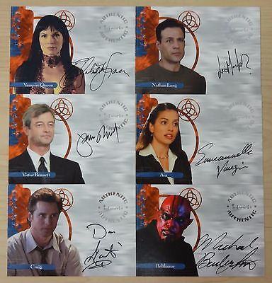 Charmed Power of Three Autograph Cards Lot of Six