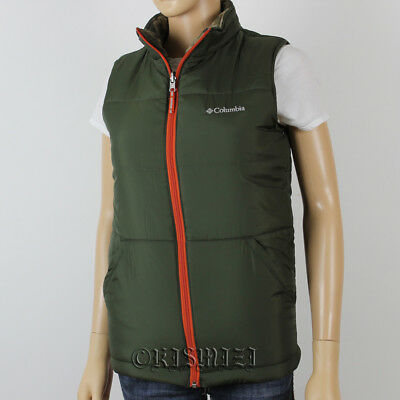 """New Boys Columbia """"Ice Chips"""" Insulated Reversible Vest Large"""