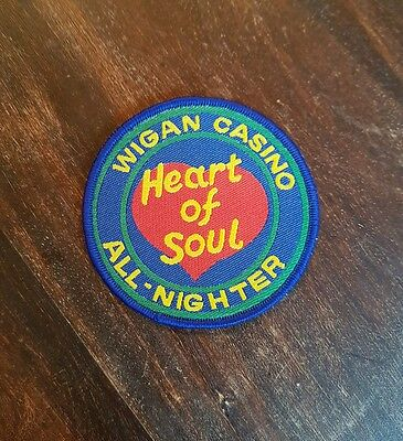 Wigan Casino Patch Heart of Soul/All-Nighter Northern Soul/Mod/Scooterist