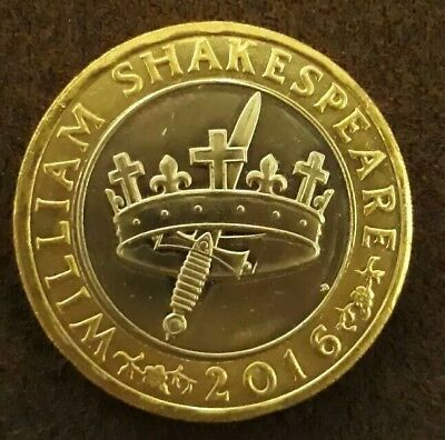2016 mint Shakespeare histories crown & dagger coin
