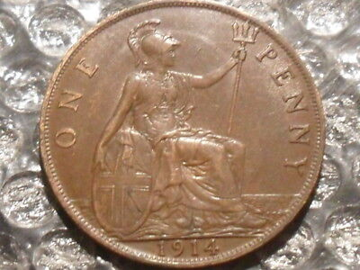 1914 George V penny.