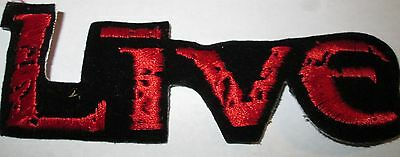Live The Band Collectable Rare Vintage Patch Embroided 90's Metal Live