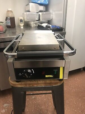 Buffalo CD474 Commercial Electric Single Panini Contact Grill