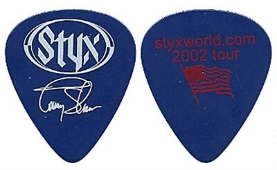 Styx Tommy Shaw authentic 2007 Styxworld concert tour signature Guitar Pick