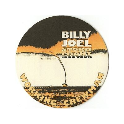 Billy Joel authentic Working 1990 tour Backstage Pass